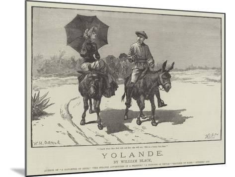 Yolande-William Heysham Overend-Mounted Giclee Print