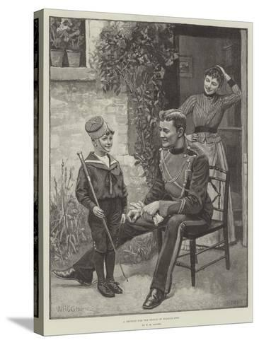 A Recruit for the Prince of Wales's Own-William Henry Charles Groome-Stretched Canvas Print