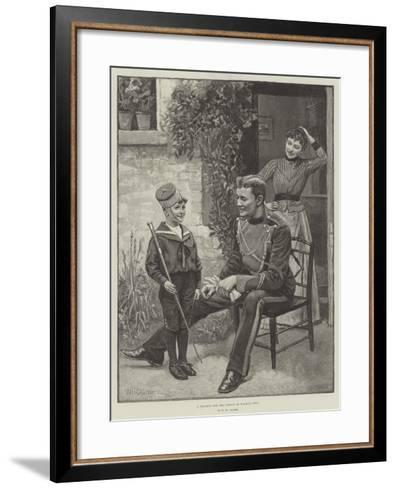 A Recruit for the Prince of Wales's Own-William Henry Charles Groome-Framed Art Print