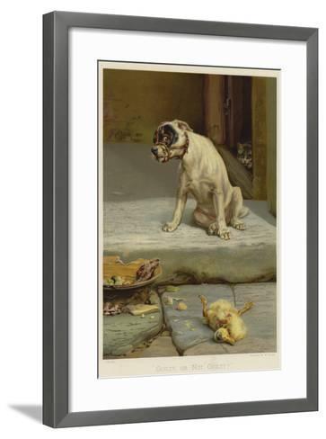 Guilty, or Not Guilty?-William Henry Hamilton Trood-Framed Art Print