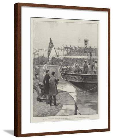 The Queen at Manchester, Her Majesty, in the Admiralty Yacht Enchantress, Opening the Ship Canal-William Heysham Overend-Framed Art Print