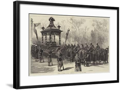 Funeral of President Garfield, Funeral Car Waiting to Receive the Coffin-William Heysham Overend-Framed Art Print