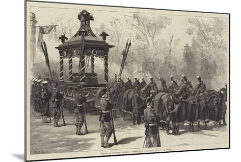Funeral of President Garfield, Funeral Car Waiting to Receive the Coffin-William Heysham Overend-Mounted Giclee Print
