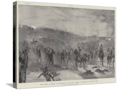 The Advance on Dongola, the Expeditionary Force Leaving Fereig at Daybreak on the Way to Hafir-William Heysham Overend-Stretched Canvas Print