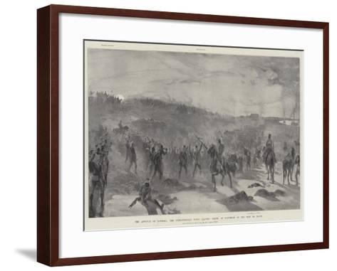 The Advance on Dongola, the Expeditionary Force Leaving Fereig at Daybreak on the Way to Hafir-William Heysham Overend-Framed Art Print
