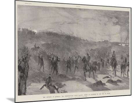 The Advance on Dongola, the Expeditionary Force Leaving Fereig at Daybreak on the Way to Hafir-William Heysham Overend-Mounted Giclee Print