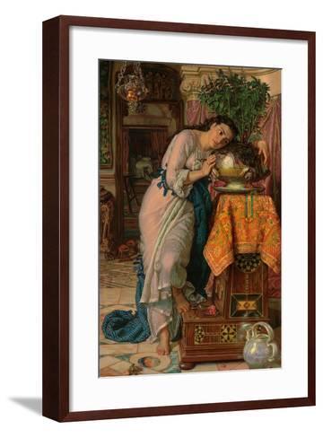 Isabella and the Pot of Basil, 1867-William Holman Hunt-Framed Art Print