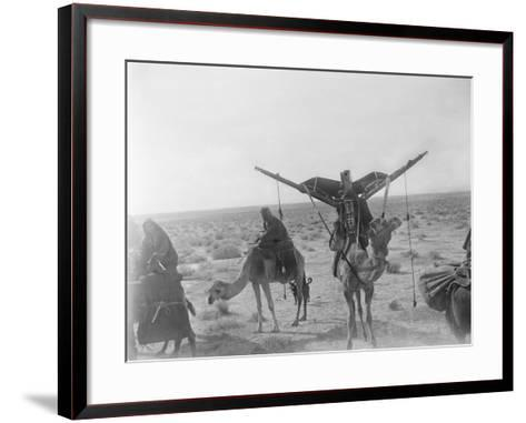 Ajman Bedouin on the Move (With Women's Litter, Hawdaj) Near Thaj, Saudi Arabia, 13th March 1911-William Henry Irvine Shakespear-Framed Art Print