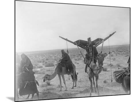 Ajman Bedouin on the Move (With Women's Litter, Hawdaj) Near Thaj, Saudi Arabia, 13th March 1911-William Henry Irvine Shakespear-Mounted Photographic Print