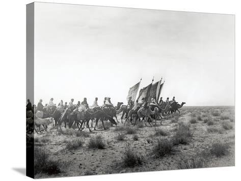 Ibn Saud's (Abd Al-Aziz Ibn Saud'S) Army on the March- Near Habl, 8th January 1911-William Henry Irvine Shakespear-Stretched Canvas Print
