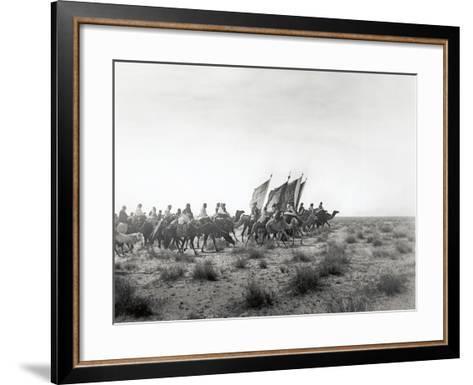 Ibn Saud's (Abd Al-Aziz Ibn Saud'S) Army on the March- Near Habl, 8th January 1911-William Henry Irvine Shakespear-Framed Art Print