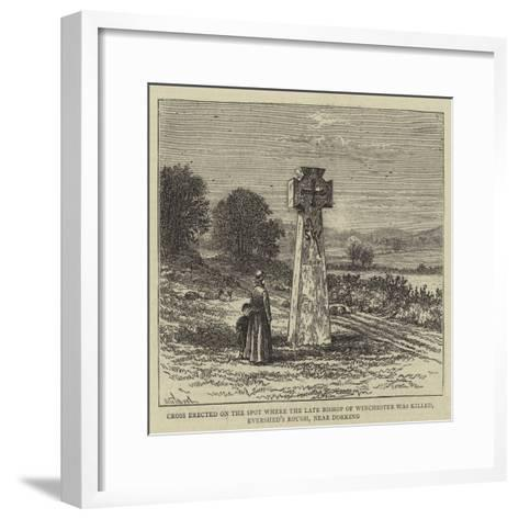 Cross Erected on the Spot Where the Late Bishop of Winchester Was Killed-William Henry James Boot-Framed Art Print