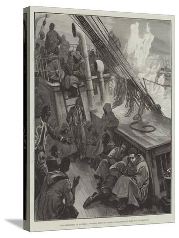 The Revolution in Roumelia, Turkish Redifs on Board a Transport on their Way to Salonica-William Heysham Overend-Stretched Canvas Print