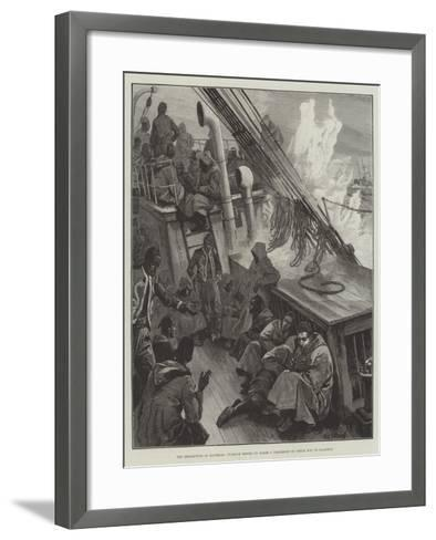 The Revolution in Roumelia, Turkish Redifs on Board a Transport on their Way to Salonica-William Heysham Overend-Framed Art Print