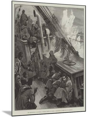 The Revolution in Roumelia, Turkish Redifs on Board a Transport on their Way to Salonica-William Heysham Overend-Mounted Giclee Print