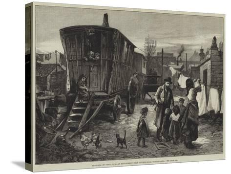 Sketches of Gipsy Life, an Encampment Near Latimer-Road, Notting-Hill-William Heysham Overend-Stretched Canvas Print