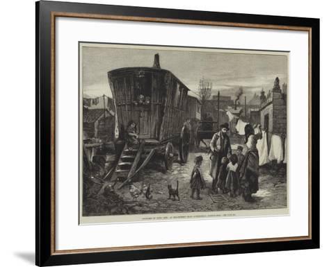 Sketches of Gipsy Life, an Encampment Near Latimer-Road, Notting-Hill-William Heysham Overend-Framed Art Print