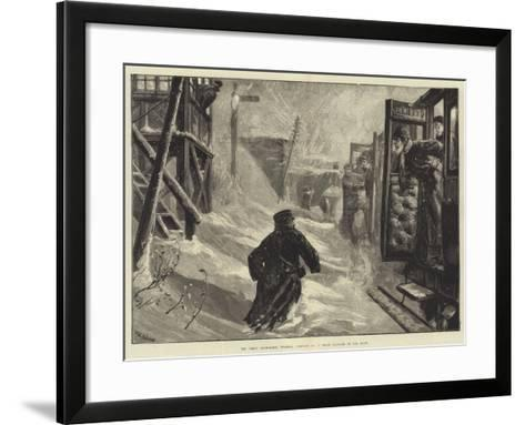 The Great Snowstorm, Tuesday, 18 January, a Train Blocked in the Snow-William Heysham Overend-Framed Art Print