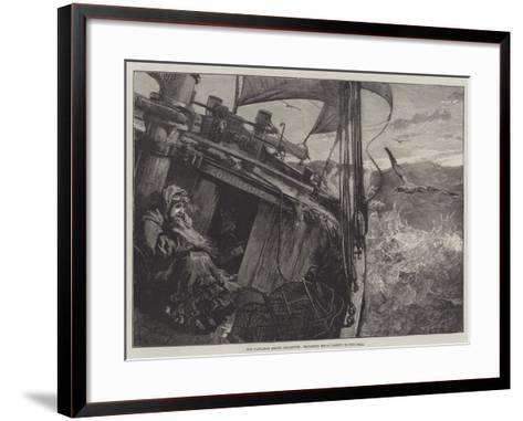 The Castaway Smack Columbine, Elizabeth Mouat Lashed to the Deck-William Heysham Overend-Framed Art Print