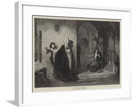 Sanctuary, from the Late Royal Academy Exhibition-William Holyoake-Framed Art Print