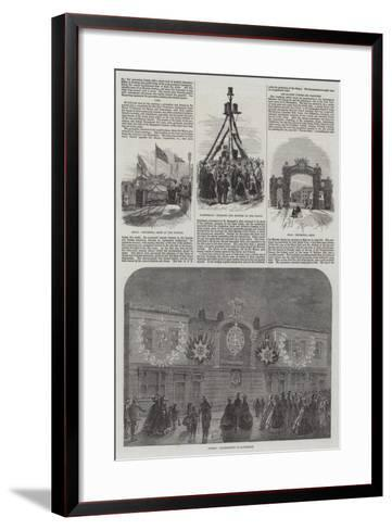 Wedding of the Prince of Wales and Alexandra of Denmark-William Henry Pike-Framed Art Print