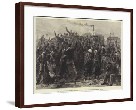 The Blantyre Colliery Explosion, Near Glasgow, Calling for Volunteers for the Exploring Parties-William Heysham Overend-Framed Art Print