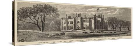 Dalmeny, the Seat of Lord Rosebery, Where Mr Gladstone Has Been Staying-William Henry James Boot-Stretched Canvas Print