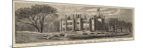 Dalmeny, the Seat of Lord Rosebery, Where Mr Gladstone Has Been Staying-William Henry James Boot-Mounted Giclee Print
