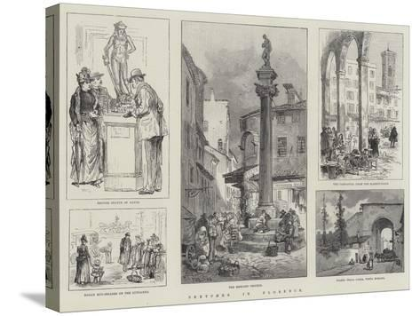 Sketches in Florence-William Henry Pike-Stretched Canvas Print