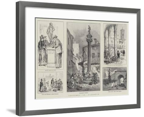 Sketches in Florence-William Henry Pike-Framed Art Print