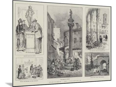 Sketches in Florence-William Henry Pike-Mounted Giclee Print