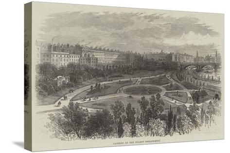 Gardens on the Thames Embankment-William Henry Pike-Stretched Canvas Print