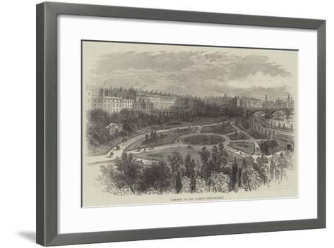 Gardens on the Thames Embankment-William Henry Pike-Framed Art Print