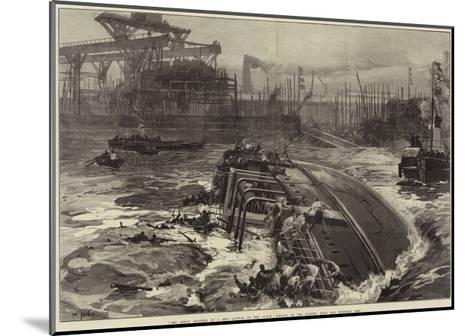 The Great Disaster at a Ship Launch on the Clyde, Sinking of the Daphne, with Two Hundred Men-William Heysham Overend-Mounted Giclee Print