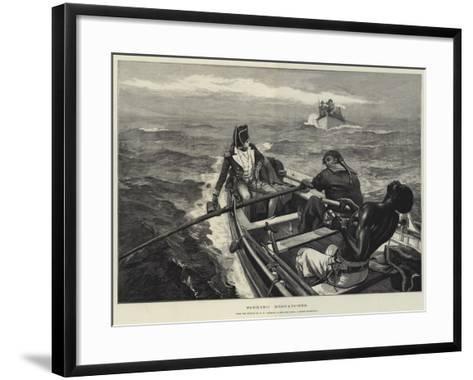 Sinking Despatches-William Heysham Overend-Framed Art Print