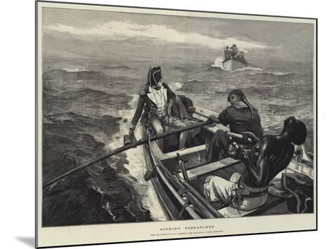 Sinking Despatches-William Heysham Overend-Mounted Giclee Print