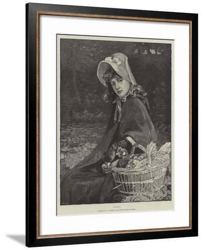 Chickens-William Hippon Gadsby-Framed Art Print