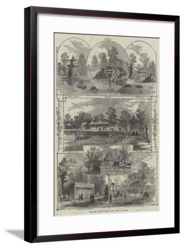 The Queen's Visit to Victoria Park, Views in the Park-William Henry Prior-Framed Art Print