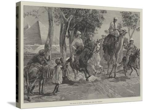 The Season in Egypt, a Canter Home from the Pyramids-William Heysham Overend-Stretched Canvas Print