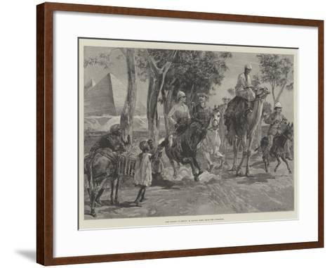 The Season in Egypt, a Canter Home from the Pyramids-William Heysham Overend-Framed Art Print