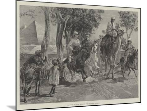 The Season in Egypt, a Canter Home from the Pyramids-William Heysham Overend-Mounted Giclee Print