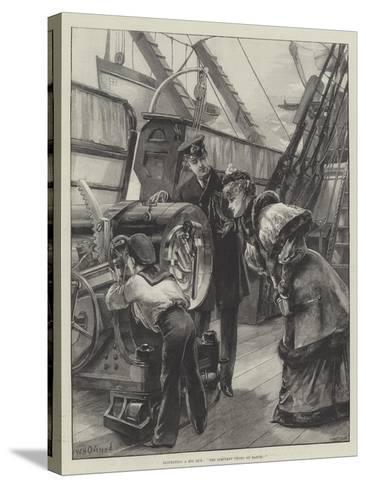 Inspecting a Big Gun, The Simplest Thing on Earth!-William Heysham Overend-Stretched Canvas Print