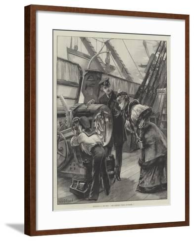 Inspecting a Big Gun, The Simplest Thing on Earth!-William Heysham Overend-Framed Art Print