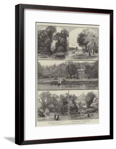 The Duke of Buccleuch's House and Grounds, Purchased by the Richmond Vestry-William Henry James Boot-Framed Art Print
