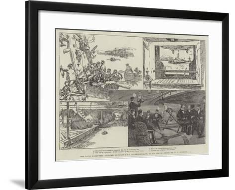 The Naval Manoeuvres, Sketches on Board HMS Northumberland-William Heysham Overend-Framed Art Print