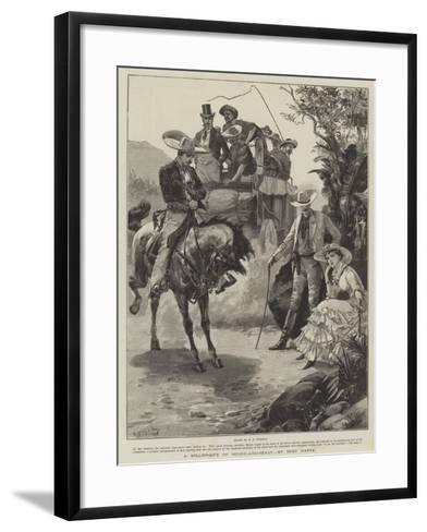 A Millionaire of Rough-And-Ready, by Bret Harte-William Heysham Overend-Framed Art Print
