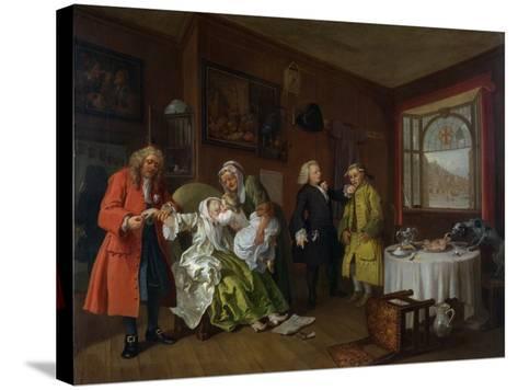 Marriage a La Mode: Vi, the Lady's Death, C.1743-William Hogarth-Stretched Canvas Print