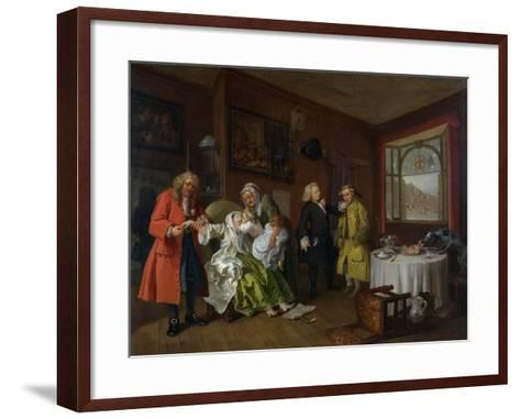 Marriage a La Mode: Vi, the Lady's Death, C.1743-William Hogarth-Framed Art Print