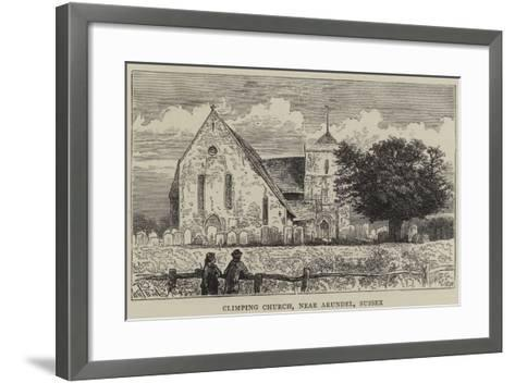 Climping Church, Near Arundel, Sussex-William Henry James Boot-Framed Art Print