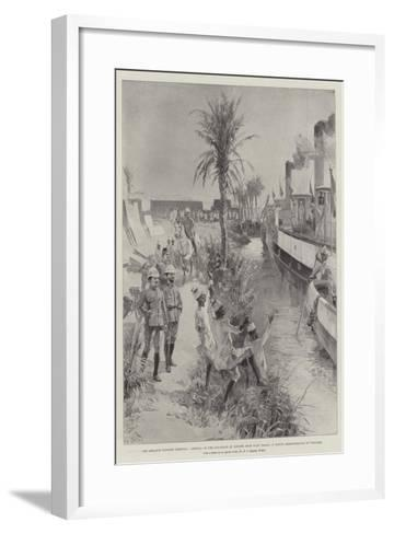 The Advance Towards Dongola-William Heysham Overend-Framed Art Print